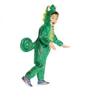 Hyde & EEK Toddler Shiny Green Plush Chameleon